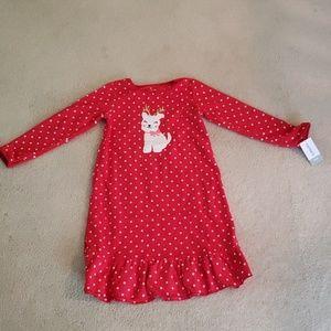 Carter's Toddler Girl 4T-5T Fleece Nightgown NWT